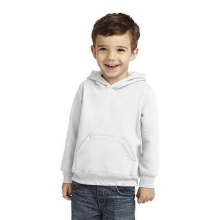 CAR78TH Toddler Pullover Hooded Sweatshirt, White - 4 Toddler