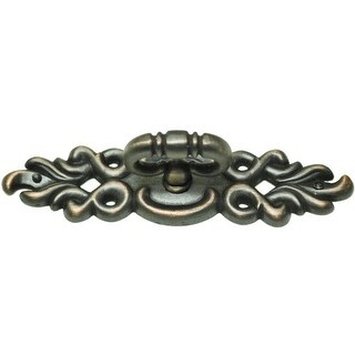 "Residential Essentials 10408 4-1/2"" Wide Mock Key Cabinet Pull with Ornate Back - Venetian Bronze"