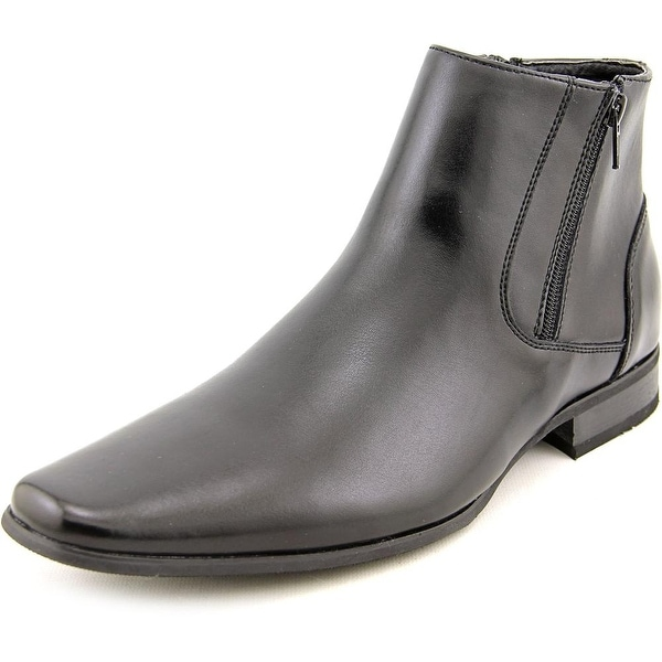 Calvin Klein Beck Men Square Toe Leather Black Boot