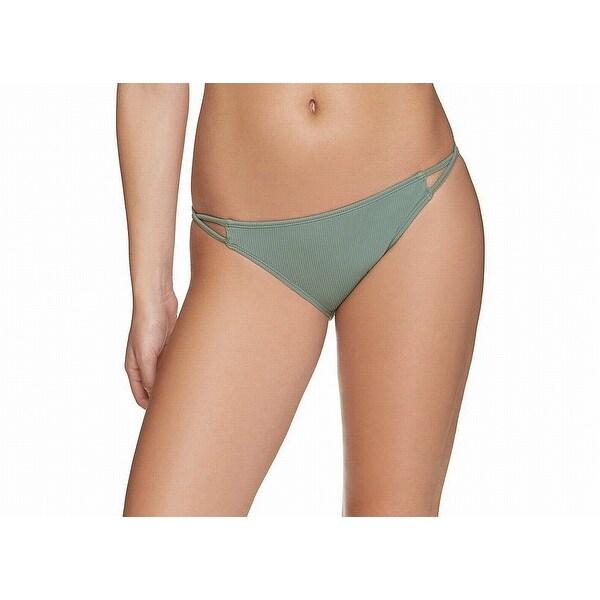 f022b97e171 Shop Gossip Green Women's Size Large L Bikini Bottom Ribbed Swimwear - On  Sale - Free Shipping On Orders Over $45 - Overstock - 27369525