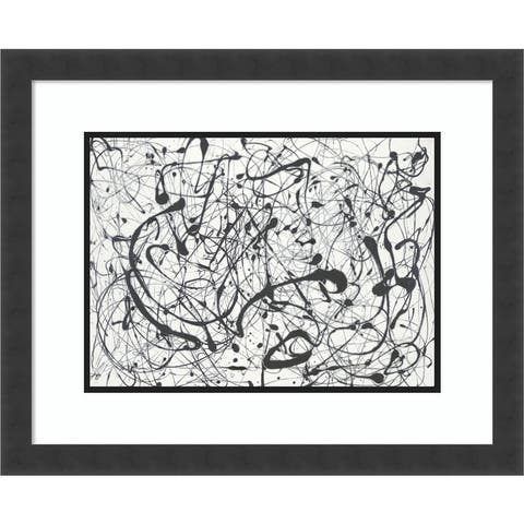 Number 14 Gray by Jackson Pollock Framed Wall Art Print