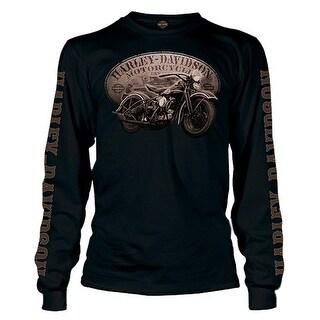 Harley-Davidson Men's Vintage Dark Past Long Sleeve T-Shirt, Solid Black