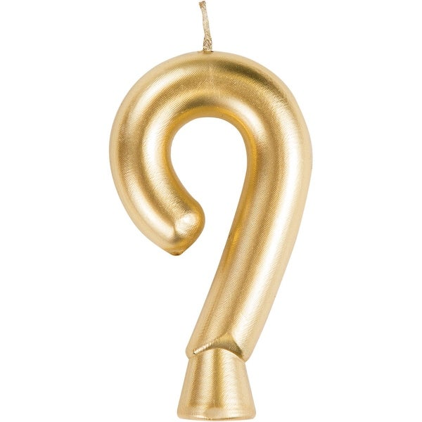 """Club Pack of 12 Gold """"9"""" Birthday Candles 2.75"""" - N/A"""