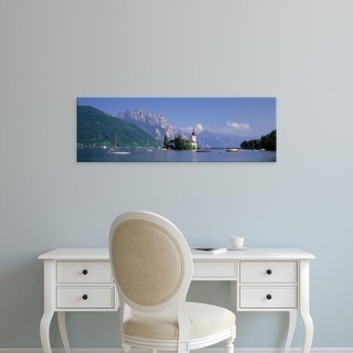 Easy Art Prints Panoramic Images's 'Traunsee Lake Gmunden Austria' Premium Canvas Art