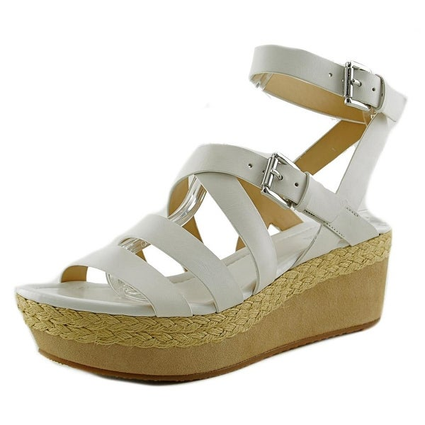 3e1460cd120 Michael Michael Kors Jocelyn Mid Wedge Women Open Toe Leather Wedge Sandal
