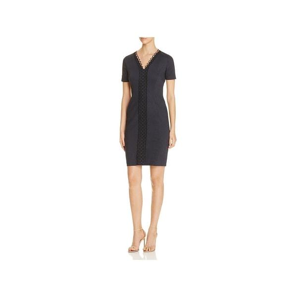 52712e9f4135 Shop Elie Tahari Womens Loretta Wear to Work Dress Embroidered V ...