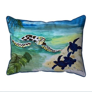 Sea Turtle Babies Indoor Outdoor Pillow Overstock 32162805