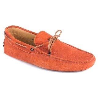 Tod's Men's Orange Suede Gommini Driving Loafers
