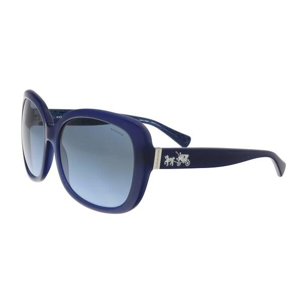 245856dfd6 Shop Coach OCH8158 539717 Navy Square Sunglasses - 58-17-135 - Free ...