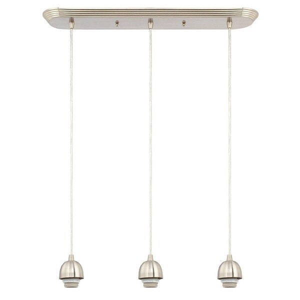 Westinghouse 6301200 Three Light Mini Pendant, Brushed Nickel