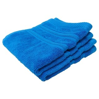 Feather and Stitch 2-Ply Wash Cloth, 13x13 Inches, Cobalt