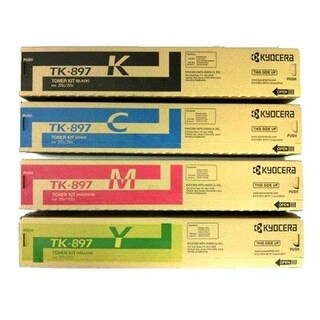 Kyocera TK-897Y Yellow Toner Cartridge, 6000 Pages