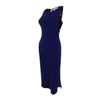 BCBGeneration Women's Sleeveless Side-Cutout Bodycon Dress - Navy Sea - XXS