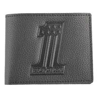 "Harley-Davidson Men's Embossed #1 Logo Leather Billfold Wallet XML3851-BLACK - 4.5"" x 3.5"""