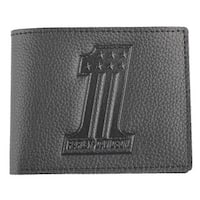 "Harley-Davidson Men's Embossed #1 Logo Leather Billfold Wallet XML3851-BLACK - 4.5"" x 3.5"""