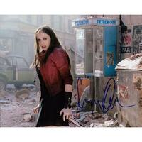 Signed Olsen Elizabeth The Avengers Age of Ultron 8x10 Photo autographed