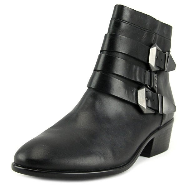 Aerosoles My Time Women Pointed Toe Leather Black Ankle Boot