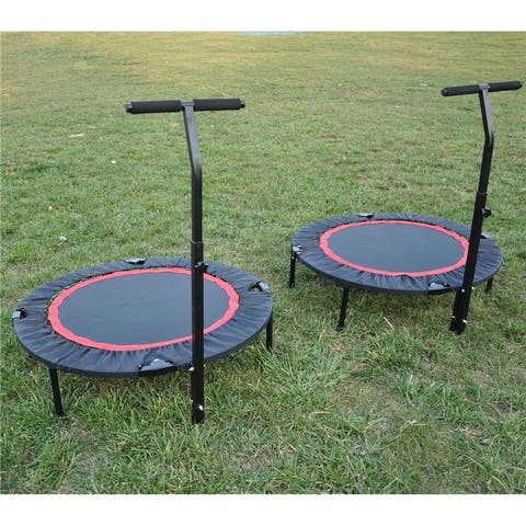 Indoor Fitness Rebounder Trampoline with Safety Pad