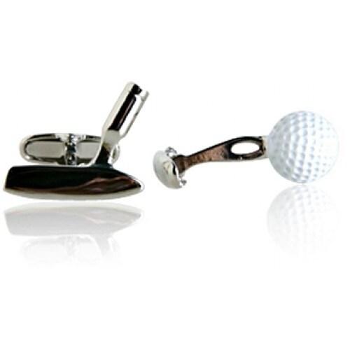 Golf Ball and Putter Sport Golfing Golfer Cufflinks