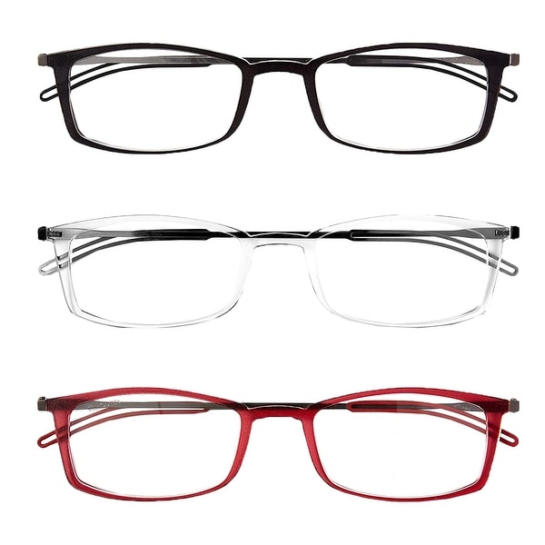 af37dc04c79b Shop ThinOptics Front-Page Brooklyn Reading Glasses with Milano Case ...