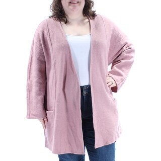 ALFANI $179 Womens New 1131 Pink Pocketed Open Cardigan Long Sleeve Top XXL B+B