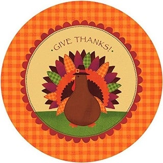 Amscan 723683 10.5 in. Autumn Turkey Dinner Paper Plates - Pack of 2