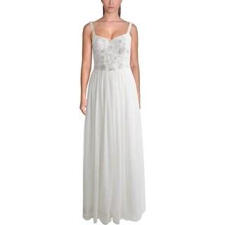 Aqua Womens Mesh Prom Semi-Formal Dress