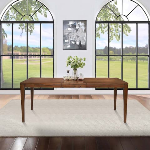 "Rubber Wood Rectangle Dining Table for Living Room - L 45.8"" x W 27.5"" x H23"""