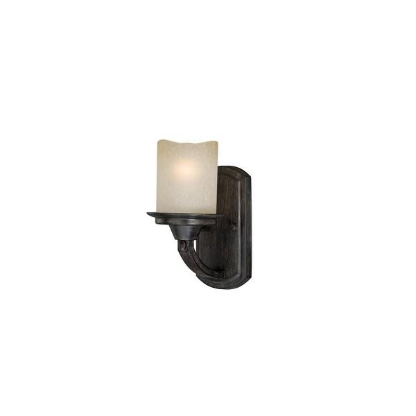 Vaxcel Lighting W0146 Halifax 1-Light Vanity Light - Black Walnut