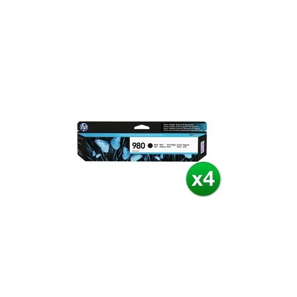 HP 980 Black Original Ink Cartridge (D8J10A)(4-Pack)