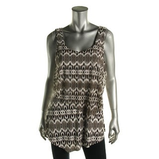 Miraclesuit Womens Layered Printed Tank Top