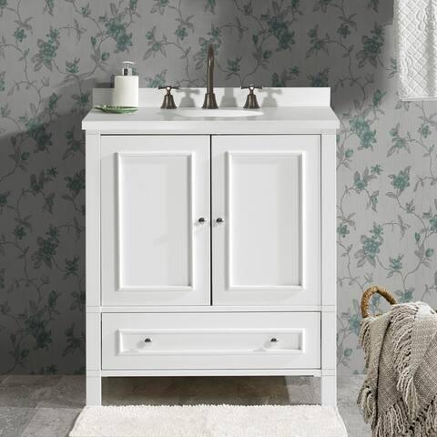 """Wooden 30""""W Vanity Cabinet"""
