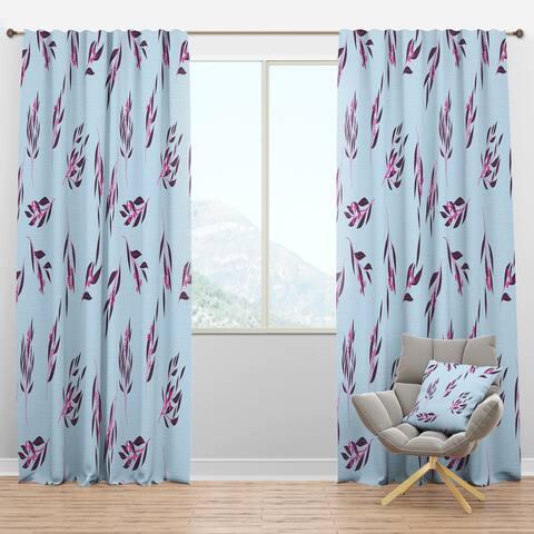 Designart 'Bright Eucalyptus Floral Pattern I' Mid-Century Modern Blackout Curtain Panel