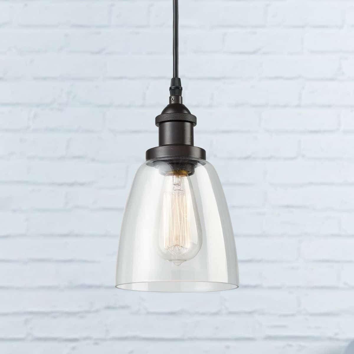 Mini Glass Bell Oil Rubbed Bronze Kitchen Island Pendant Lighting Overstock 30077622