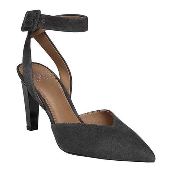 40b329322dfa Sarto by Franco Sarto Women's Santi Ankle Strap Heel Grey Kid Suede
