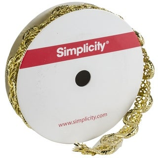 "Simplicity Metallic Passimentre Trim .75""X1yd-Gold"