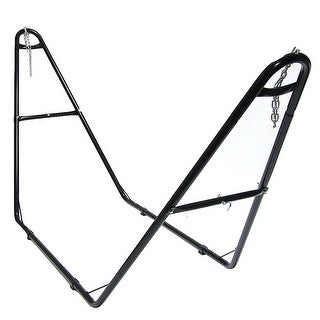 Sunnydaze Universal Multi-Use Steel Hammock Stand, Fits Hammocks 9 to 14 Feet Long, 440 Pound Capacity - Black