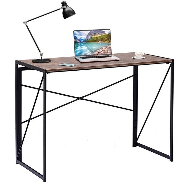 Simple Modern Office Desk Portable Computer Desk Home: Shop Costway Folding Writing Computer Desk Modern Simple