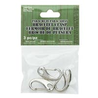 Paracord Clasp, Spring Hook Lobster Clasp 15x32mm, 3 Pieces, Antiqued Silver