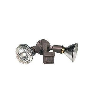 Heath Zenith HZI-5408-BZ Motion Sensor Floodlight, 100°, 60', Bronze