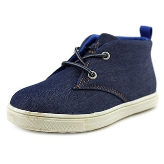 Carter's Cloudy2 Youth Round Toe Canvas Blue Chukka Boot