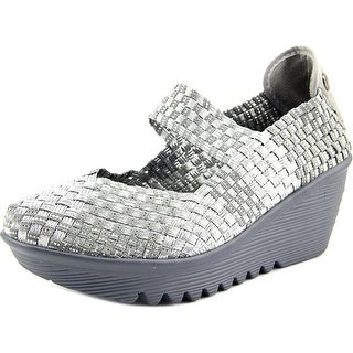Bernie Mev. Lulia Women Round Toe Canvas Silver Mary Janes|https://ak1.ostkcdn.com/images/products/is/images/direct/a16d533c7e79984c715192bd5bb893887fa9350c/Bernie-Mev.-Lulia-Women-Open-Toe-Canvas-Wedge-Heel.jpg?_ostk_perf_=percv&impolicy=medium