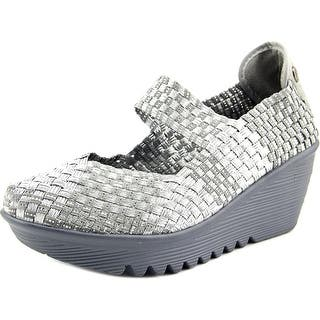 Bernie Mev. Lulia Women Round Toe Canvas Silver Mary Janes|https://ak1.ostkcdn.com/images/products/is/images/direct/a16d533c7e79984c715192bd5bb893887fa9350c/Bernie-Mev.-Lulia-Women-Open-Toe-Canvas-Wedge-Heel.jpg?impolicy=medium