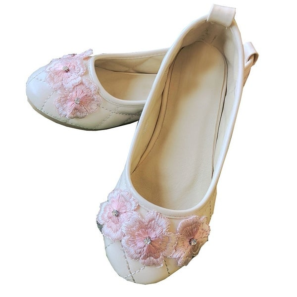 4e60eb5c8e9 Shop Petite Adele Little Girls Pink 3D Flowers Dress Shoes 6-10T - Free  Shipping On Orders Over  45 - Overstock - 26521559