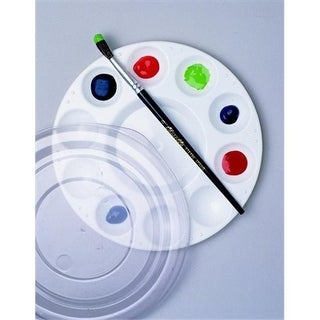Paint Palette With Cover, 7.5 In. - Plastic, White,