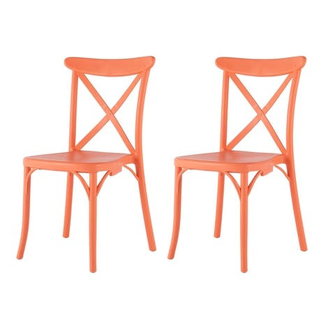 Toppy Stackable X Dinning Chair (Set of 2)