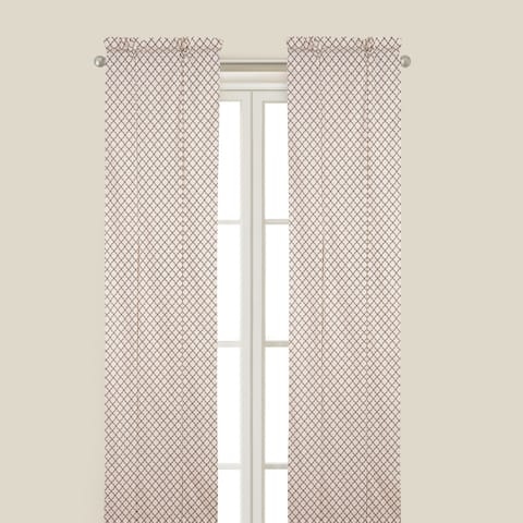 Seraphina Brown Curtain Panel - 50 x 84