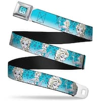Snowflakes Frozen Art Collection Full Color Anna Snowflakes Frozen Art Seatbelt Belt