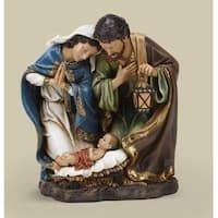 "15"" Joseph's Studio Religious Holy Family with Lantern Christmas Nativity Figure - brown"