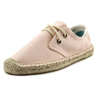 Soludos Lace Up Youth Round Toe Canvas Pink Espadrille